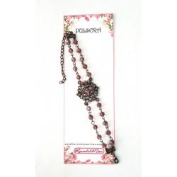 PULSERA FANTASY - Circonitas y cristal rosa palo