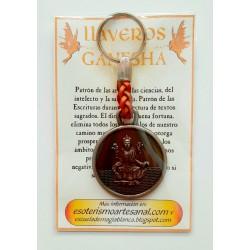 LLAVERO DE CUERO - Ganesha