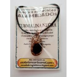 COLGANTE MEDIEVAL ALAMBRADO - TURMALINA NEGRA