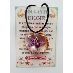COLGANTE DIONE - CONCHA con AMULETO ESTRELLA de MAR