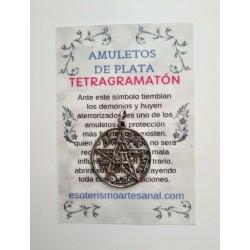 TETRAGRAMATÓN - Amuleto en plata - modelo 3