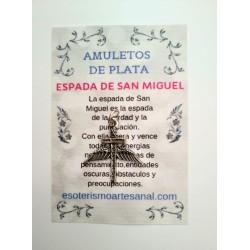 ESPADA DE SAN MIGUEL - Amuleto en plata