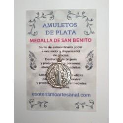 MEDALLA DE SAN BENITO - Amuleto en plata - modelo 4