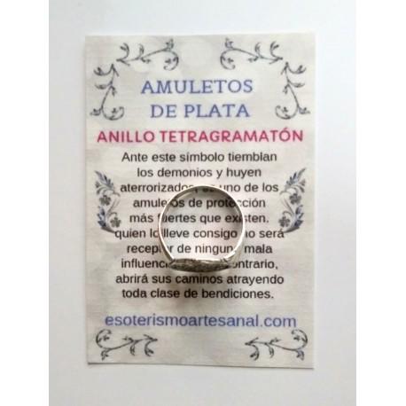ANILLO TETRAGRAMATÓN - Amuleto en plata