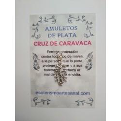 CRUZ DE CARAVACA - Amuleto en plata - modelo 2