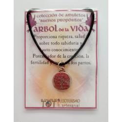 AMULETO BP - ÁRBOL de la VIDA - medalla plateada
