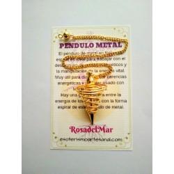 PÉNDULO de METAL dorado 01