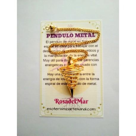PÉNDULO de METAL - dorado