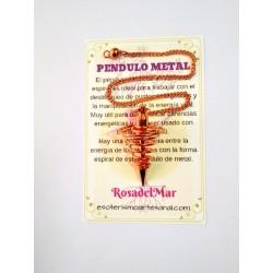 PÉNDULO de METAL - cobre