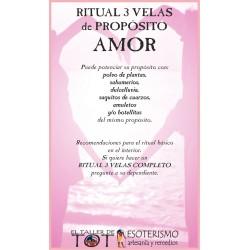 RITUAL 3 VELAS Universal -*- AMOR