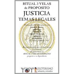 RITUAL 3 VELAS Universal -*- JUSTICIA