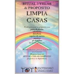 RITUAL 3 VELAS Universal -*- LIMPIA CASAS