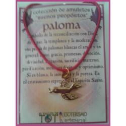 AMULETO BP - PALOMA dorada 01