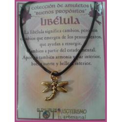 AMULETO BP - LIBÉLULA dorada 01