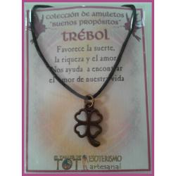 AMULETO BP - TREBOL bronceado 01