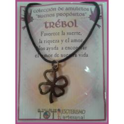 AMULETO BP - TREBOL bronceado 02