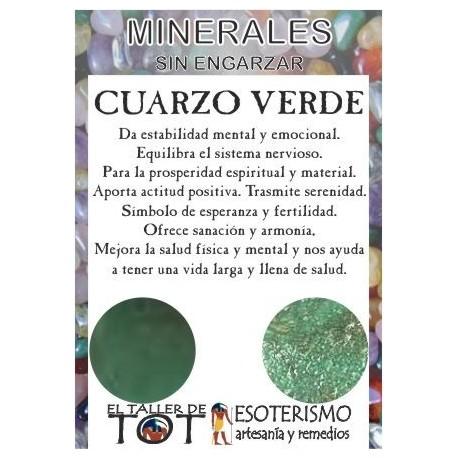 Mineral -*- CUARZO VERDE