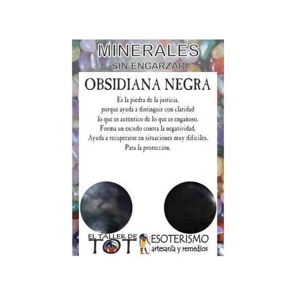 Mineral -*- OBSIDIANA NEGRA