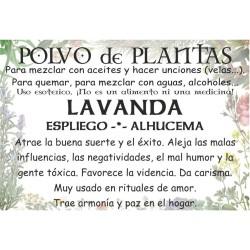 Polvo de LAVANDA - ALHUCEMA - ESPLIEGO