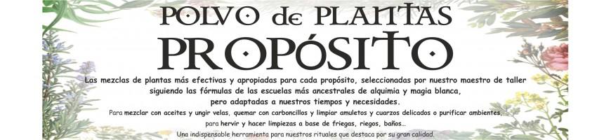 POLVOS de PLANTAS de PROPÓSITO